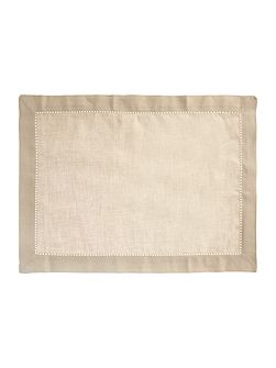 Shabby Chic Stone cotton linen placemat set of