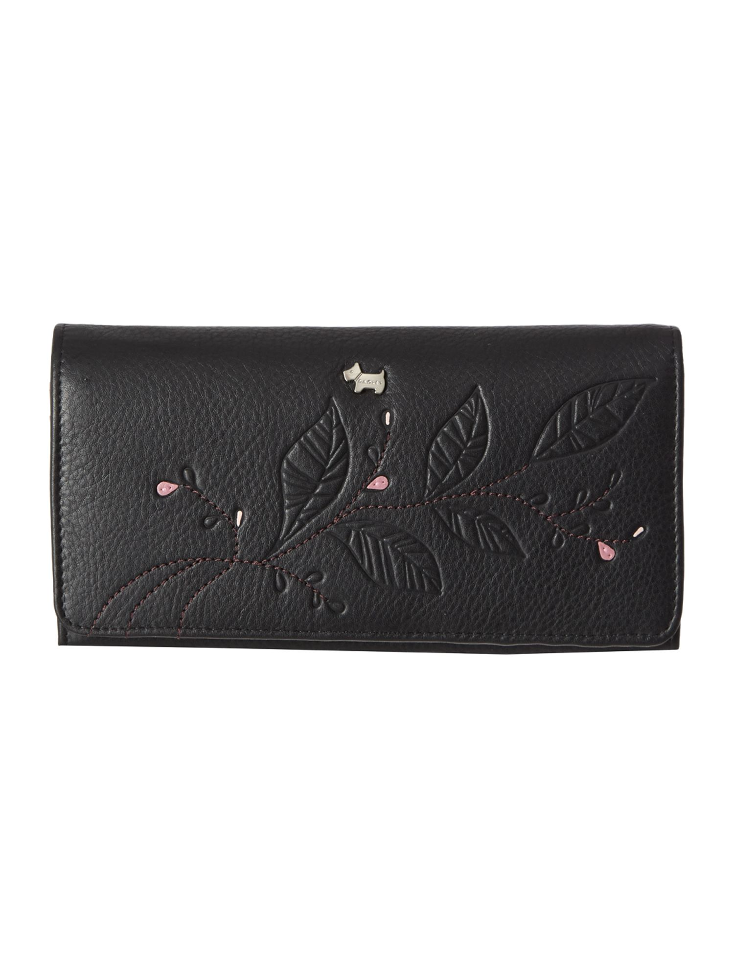 Laurel leaf black large flap over matinee purse