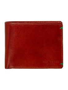 Bright bifold coin wallet