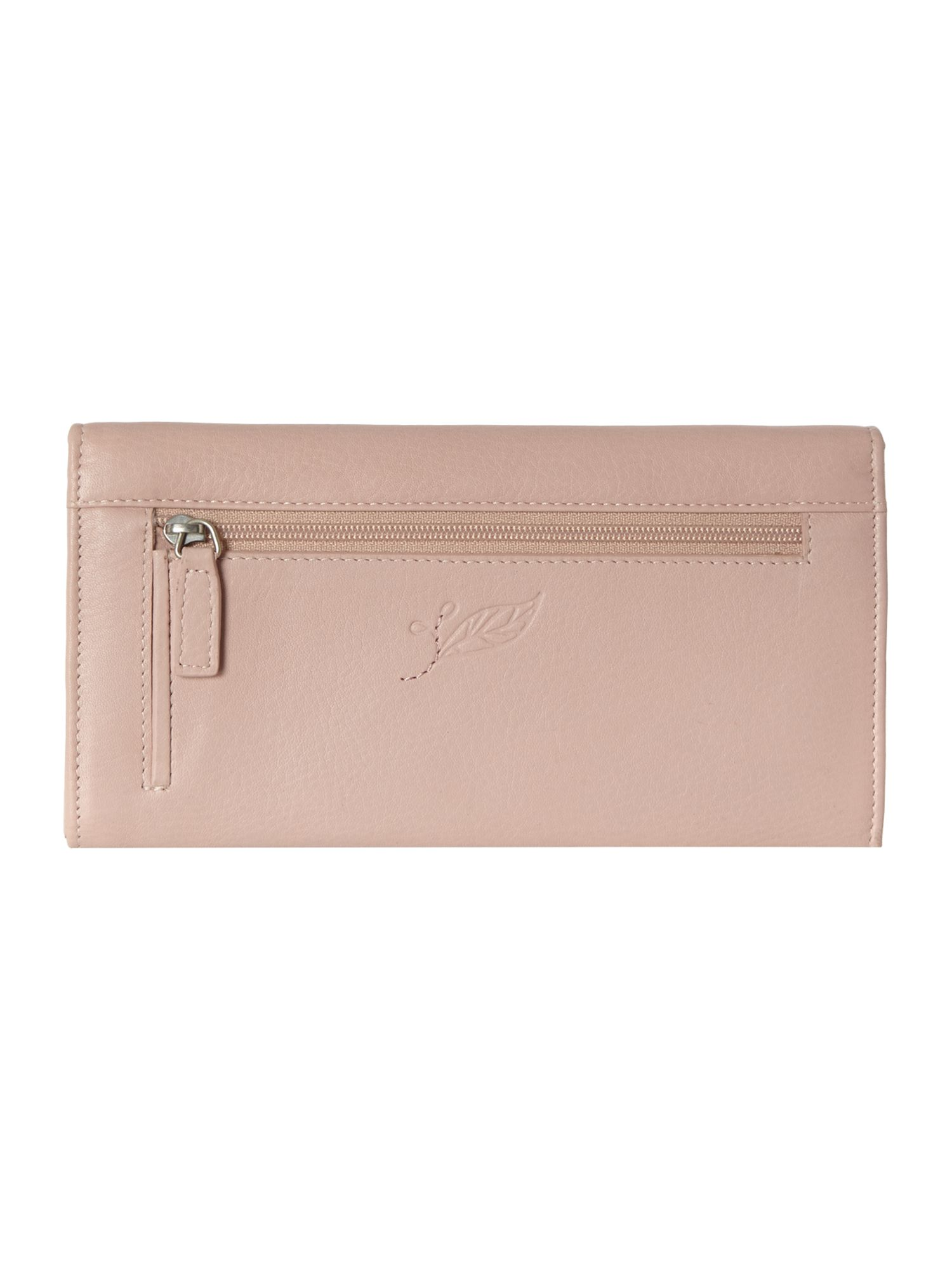 Laurel leaf pale pink large flap over purse