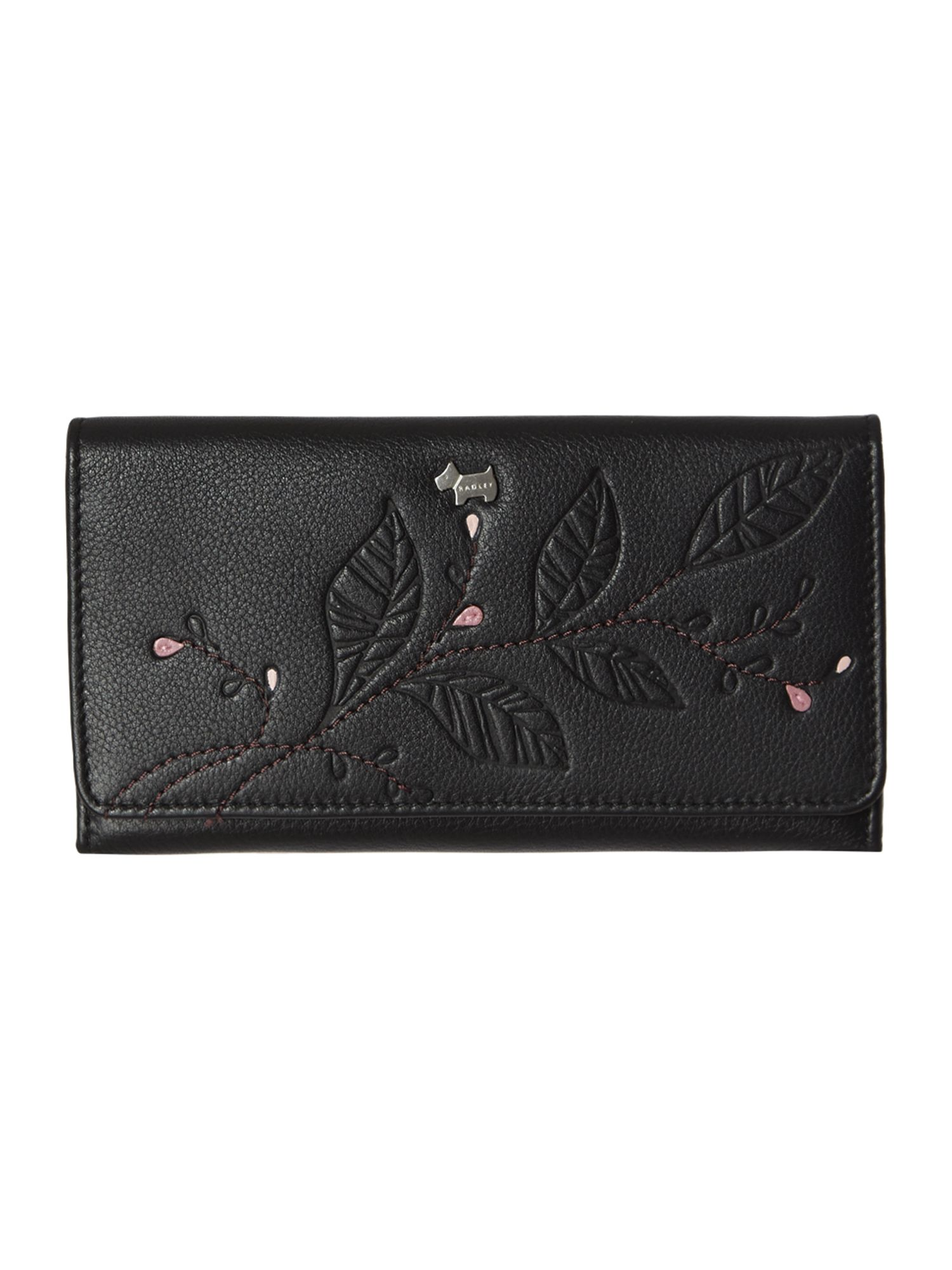 Laurel leaf black large trifold matinee purse