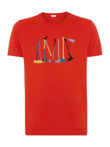 Paul smith axes print t shirt