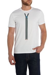 Paul smith zip print t shirt