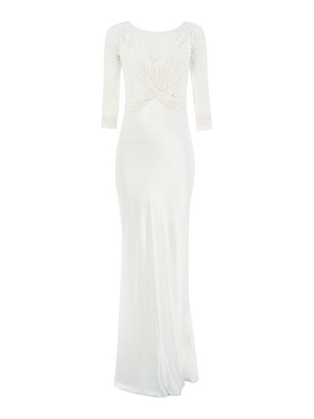 Ghost Diana lace cross over gown