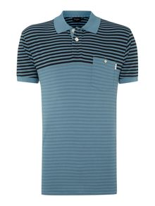 Paul smith 2 tone stripe polo shirt