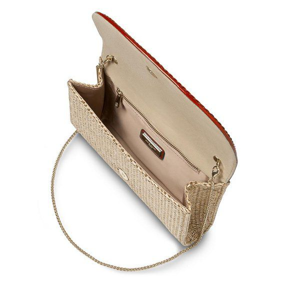 Evie trim detail clutch bag