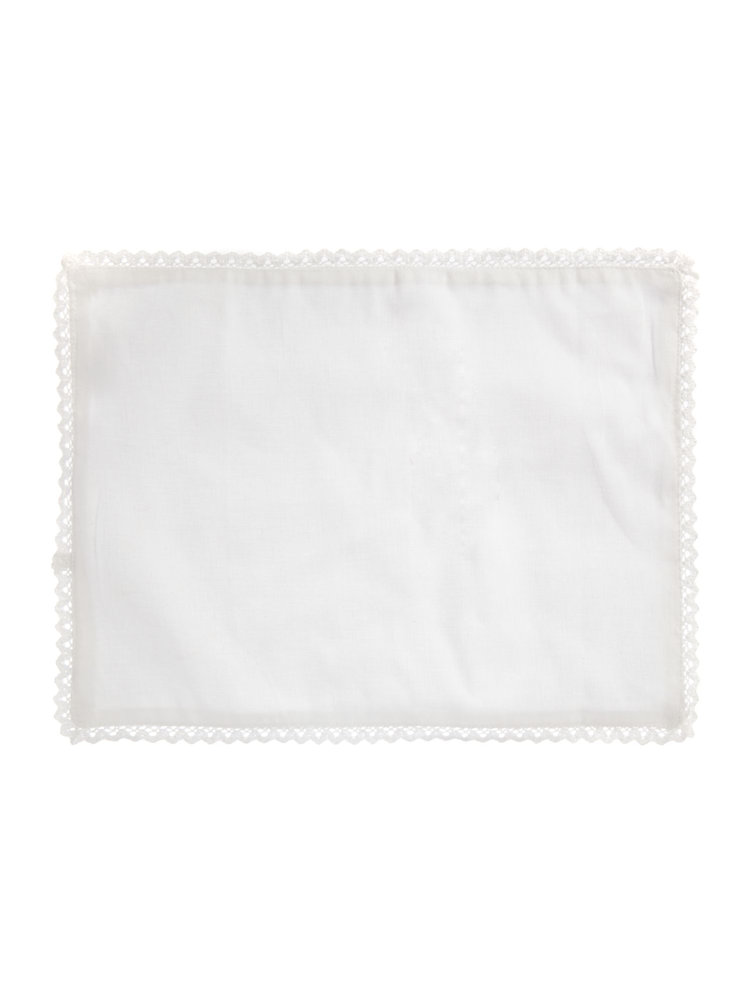 Shabby Chic Shabby Chic White lace cotton linen placemats set