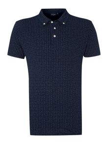 Paul Smith All Over Paisley Print Polo