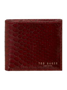 Exotic emboss bifold coin wallet