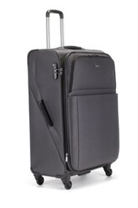 Helix grey 4 wheel soft extra large suitcase