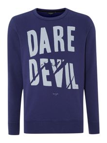 Paul smith dare devil print sweatshirt