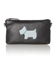 Heritage dog black large zip top wristlet
