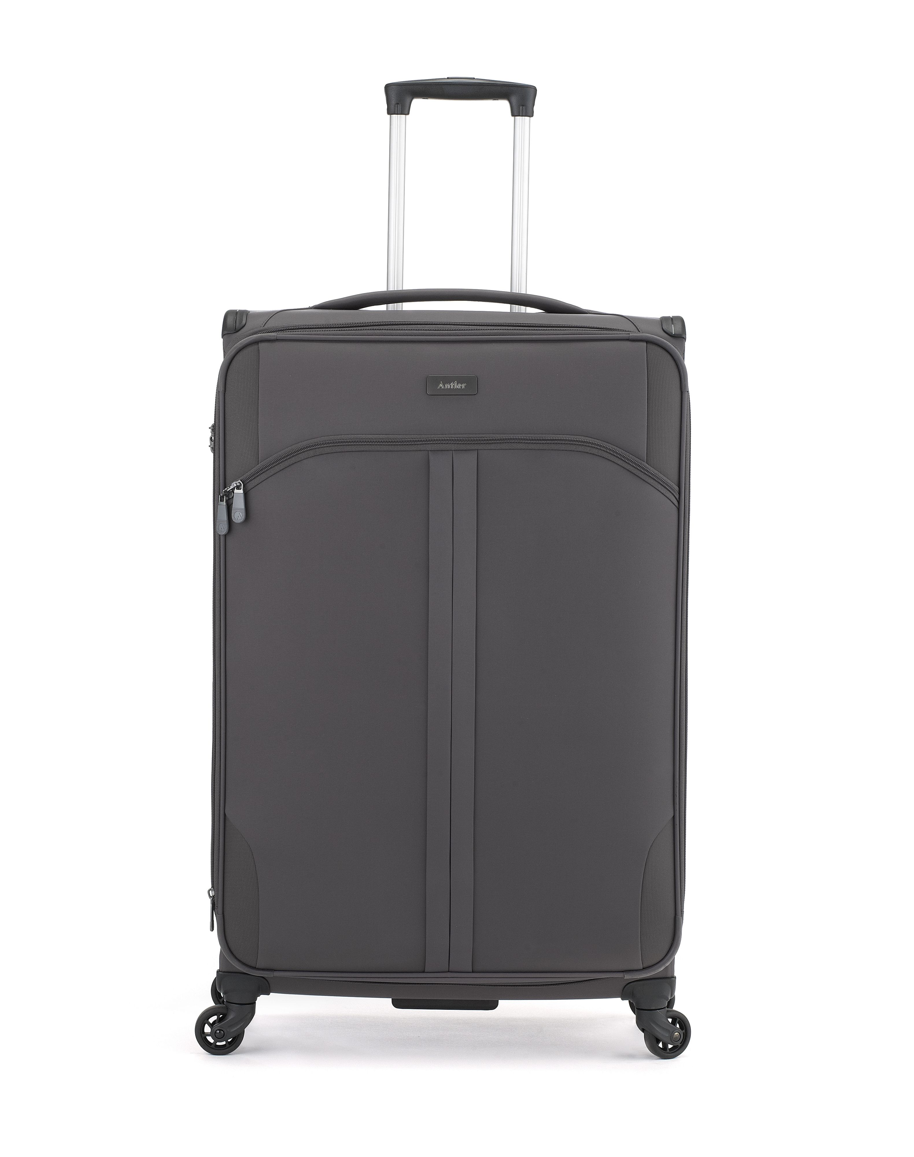 Antler Aire dark grey 4 wheel soft large rollercase Dark Grey