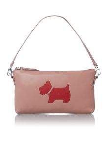 Heritage dog red large zip top wristlet