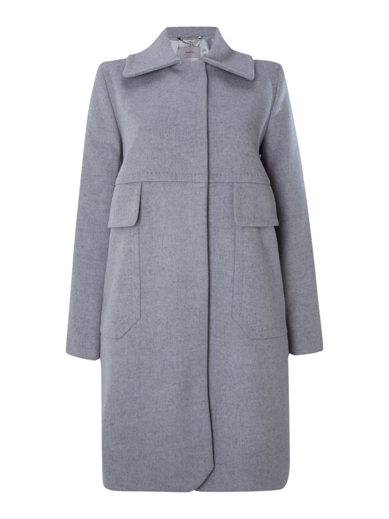 Collared wool coat