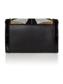 Cleo deco beaded clutch handbag