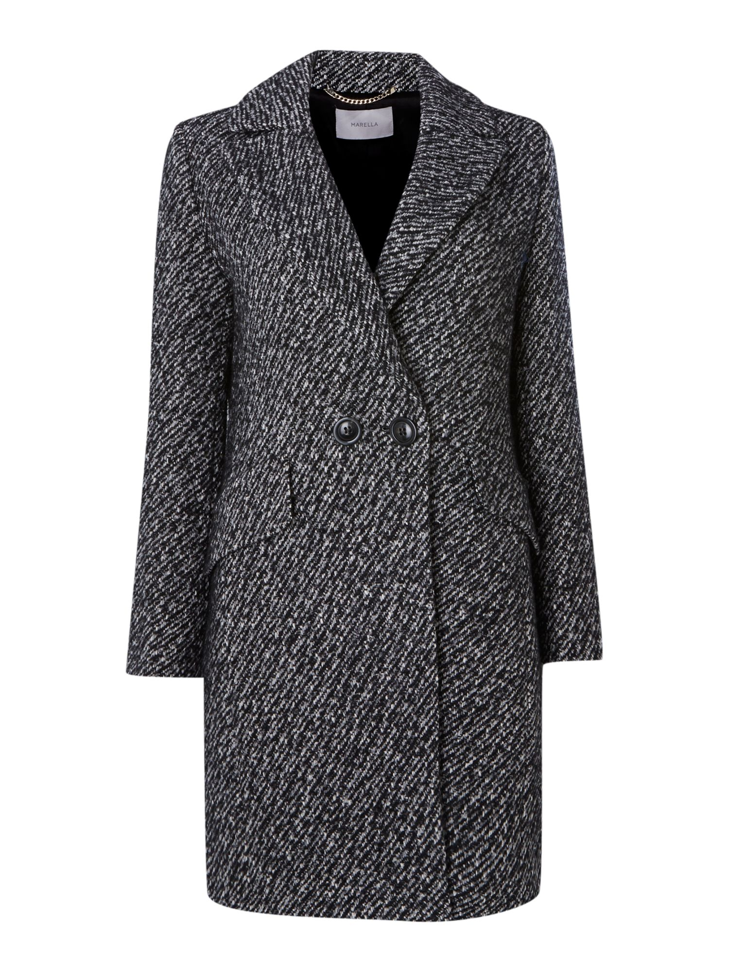 Tweed button coat