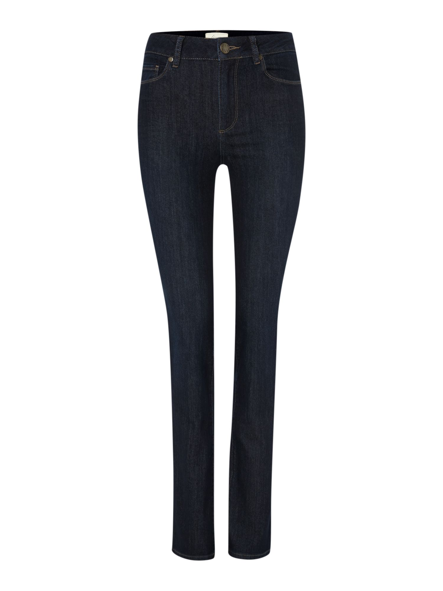 High waisted straight leg jeans