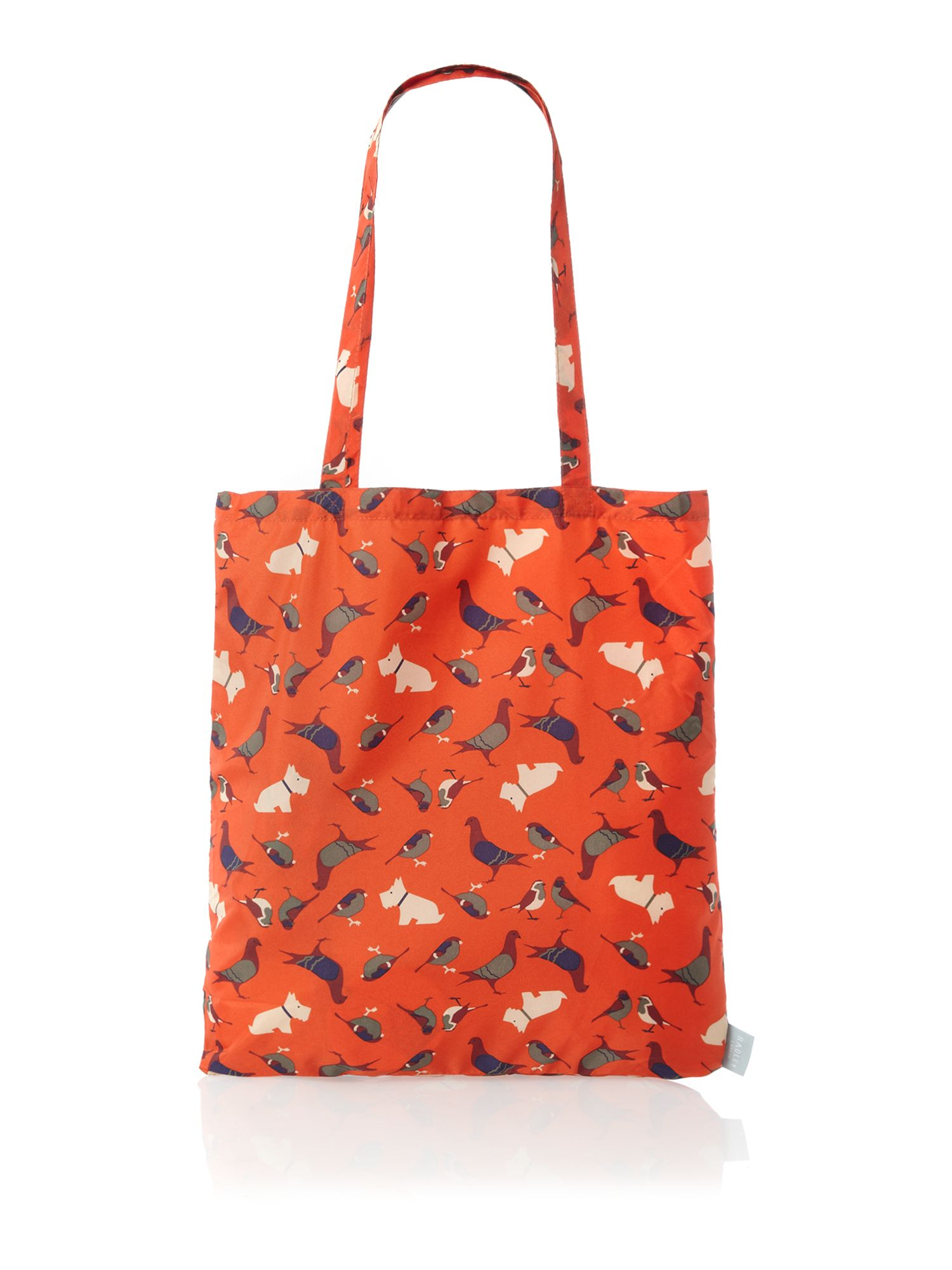 A little bird told me orange foldaway tote