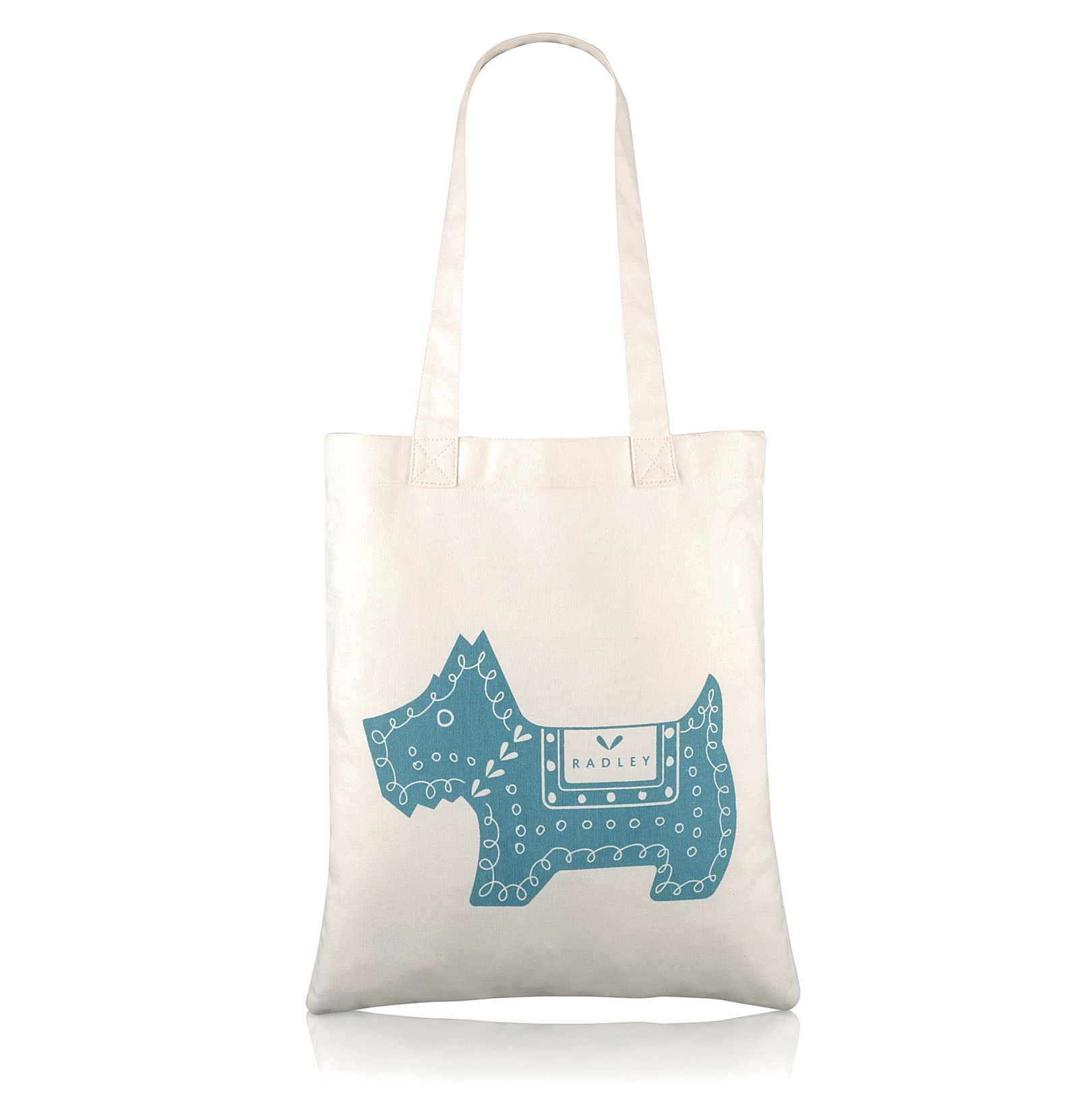 Dala dog blue tote bag