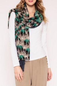 Feather silk layer scarf
