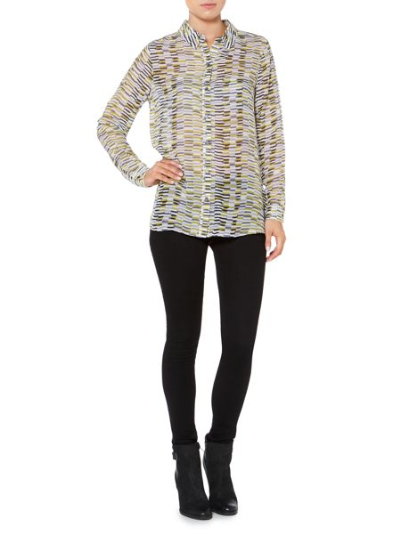 Linea Weekend Urban track print shirt