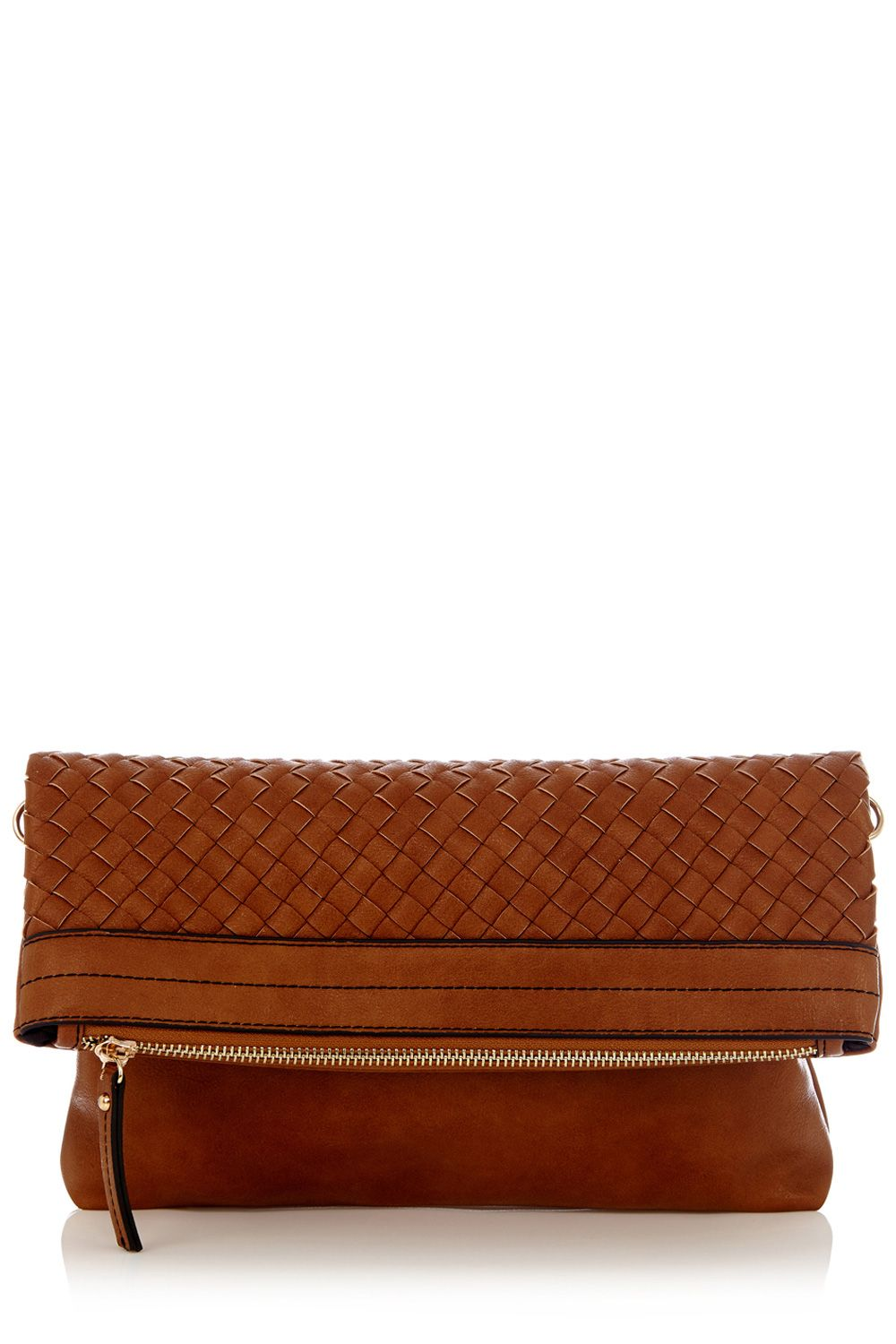 Whitney weave clutch bag