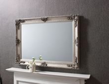 Linea Abbey Rectangle Silver 108 x 78cm
