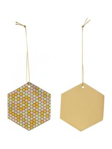 Gold dotty gift tags