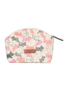 Doodle dog ivory small zip cosmetic case
