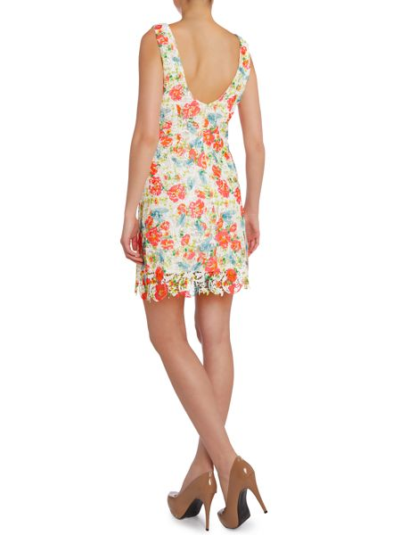 Louche Floral printed lace dress