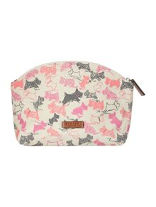 Doodle dog ivory medium zip cosmetic case