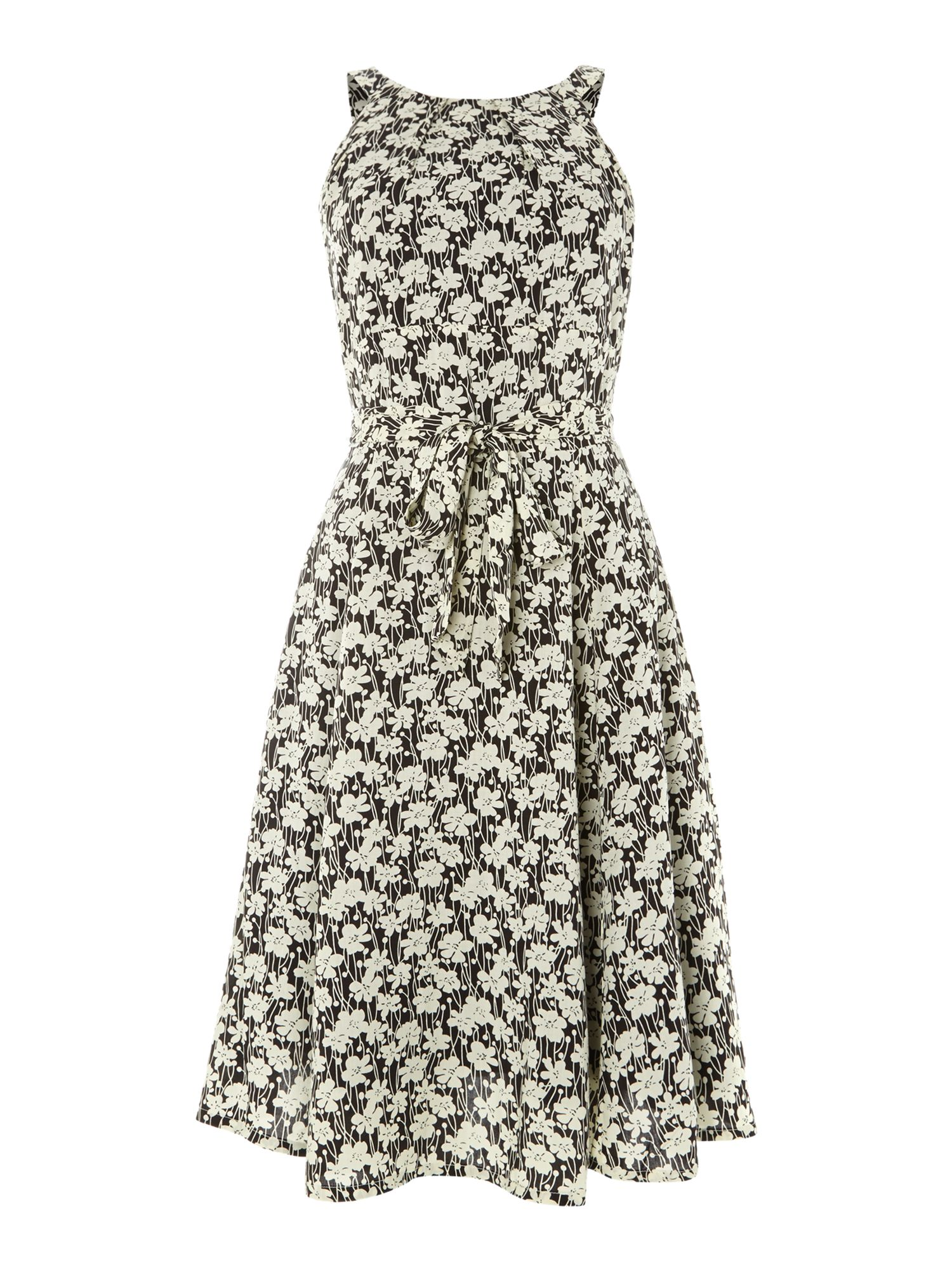 Halter neck floral print dress