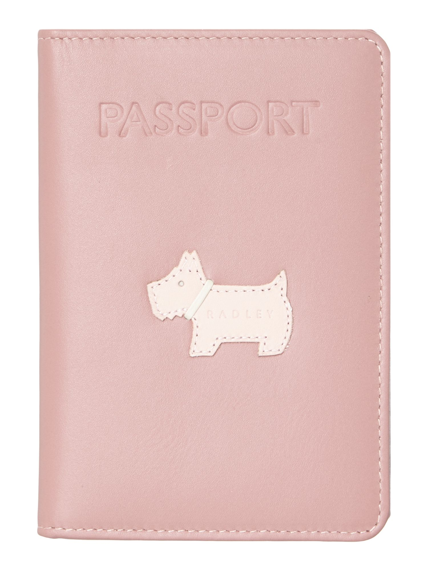 Heritage dog pink passport cover