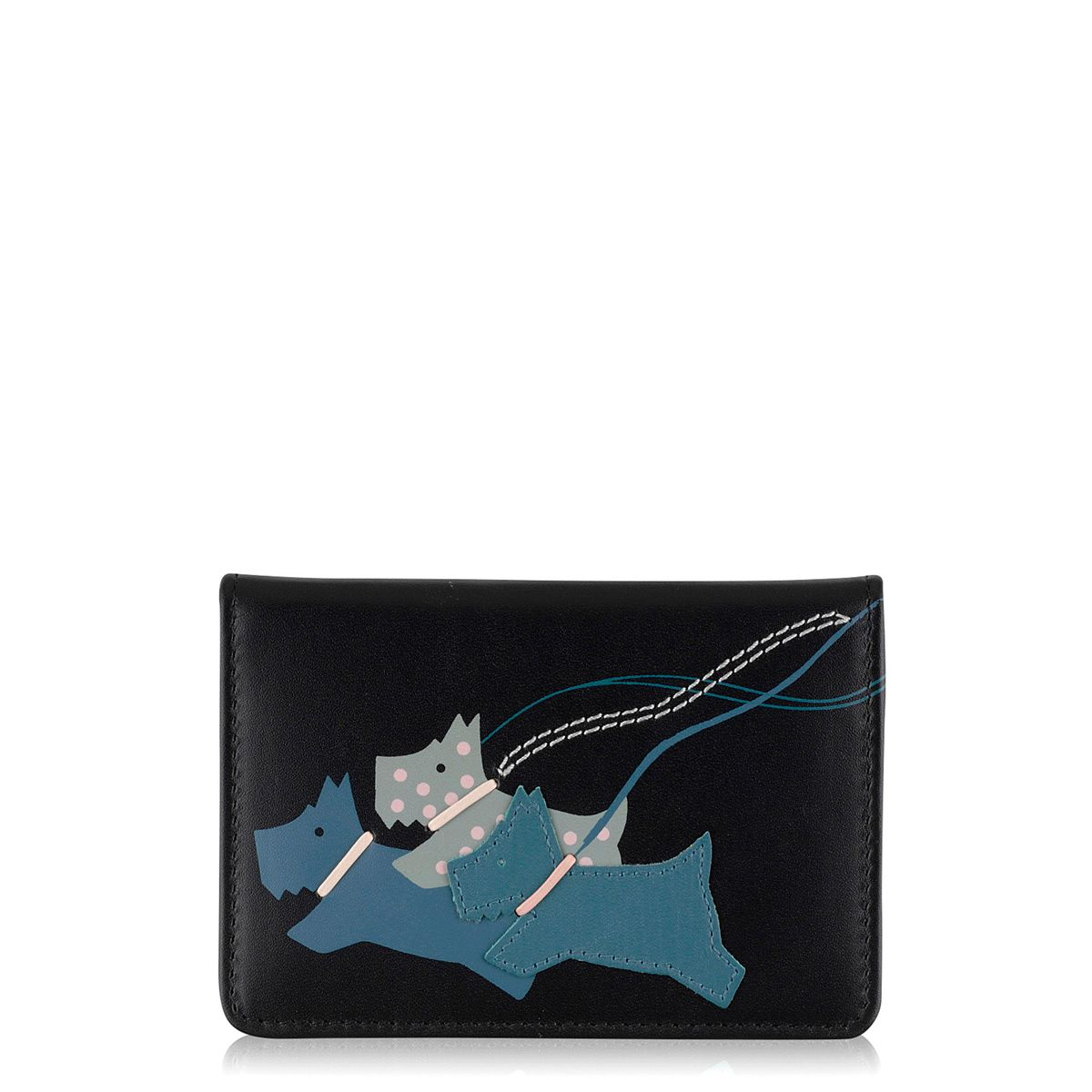 On the run black small credit card holder