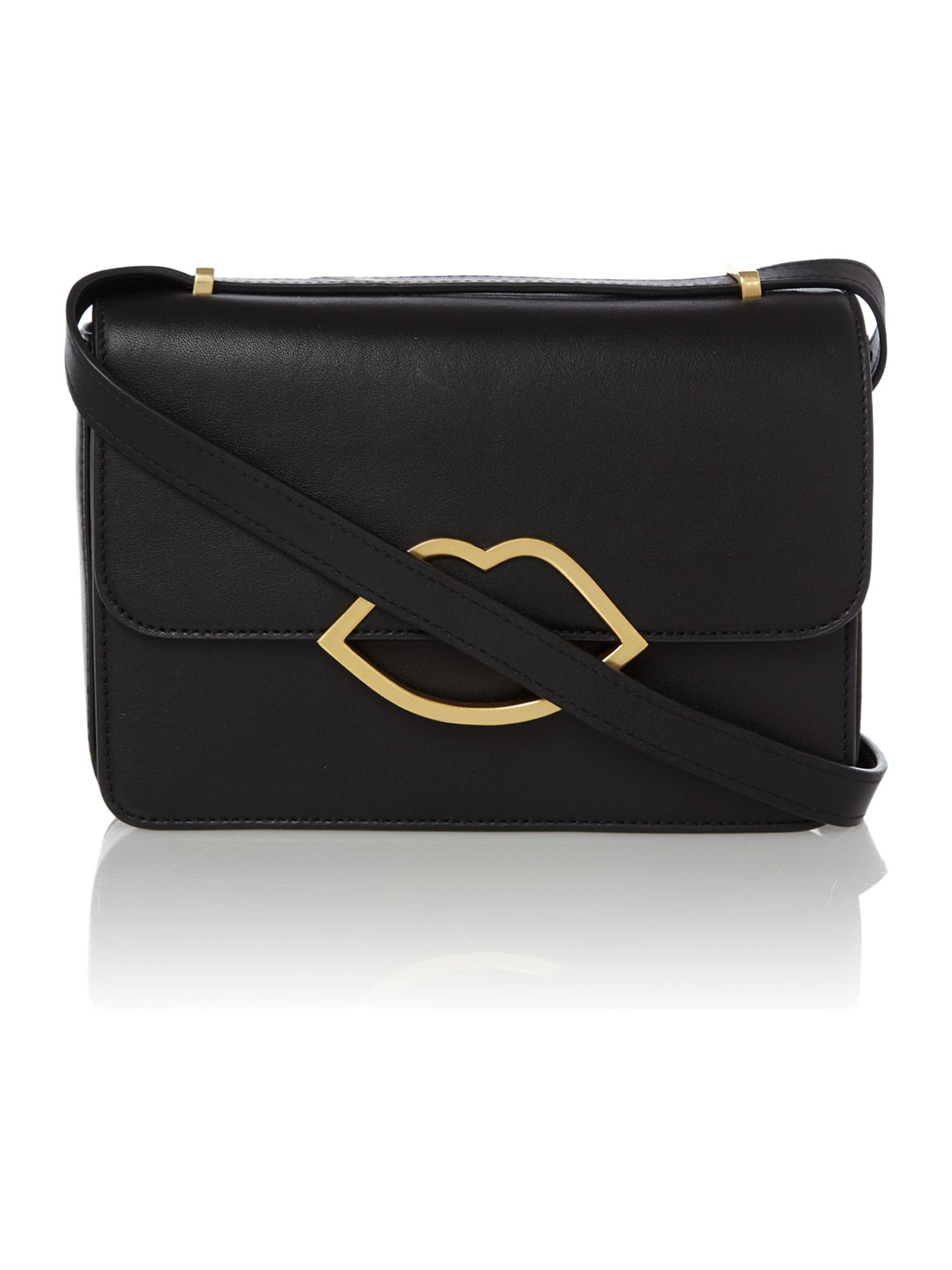 Edie black small crossbody bag