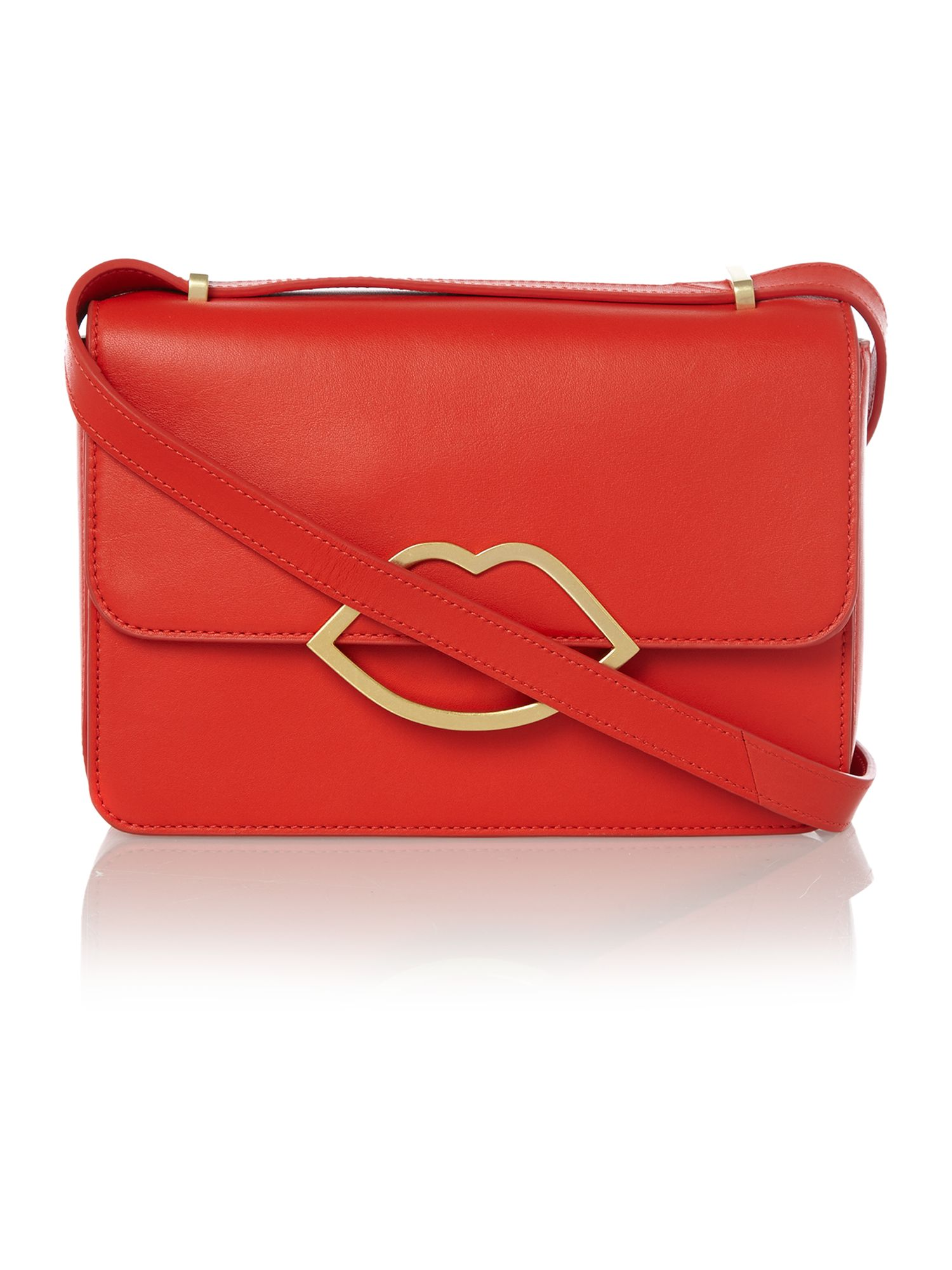 Edie red small crossbody bag