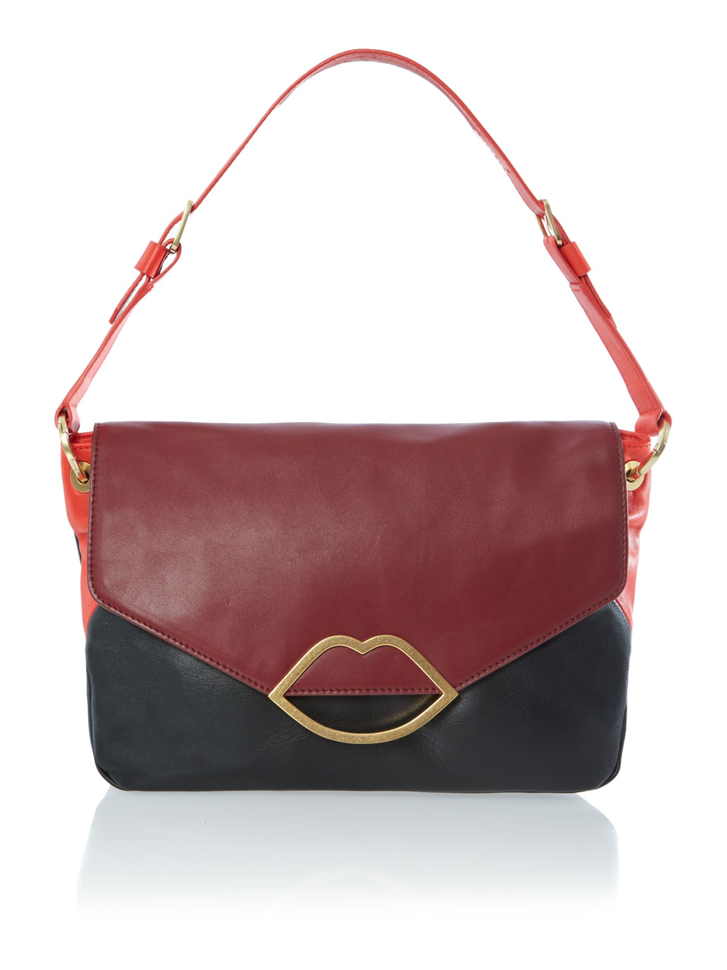 Nicola multi-coloured small shoulder bag