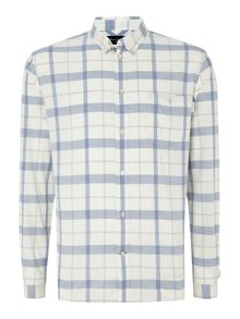 Big Blue Long Sleeve Check Shirt