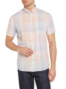 Paul Smith Jeans Graph Check Print Short Sleeve Shirt
