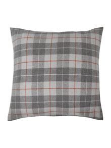 Grey and red plaid sham