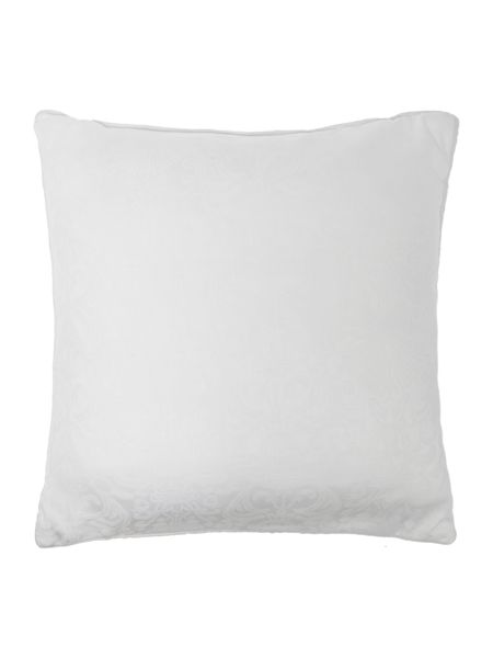 Luxury Hotel Collection Baroque jacquard quilted cushion filled white