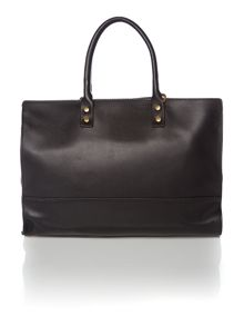 Daphne black medium frame tote bag