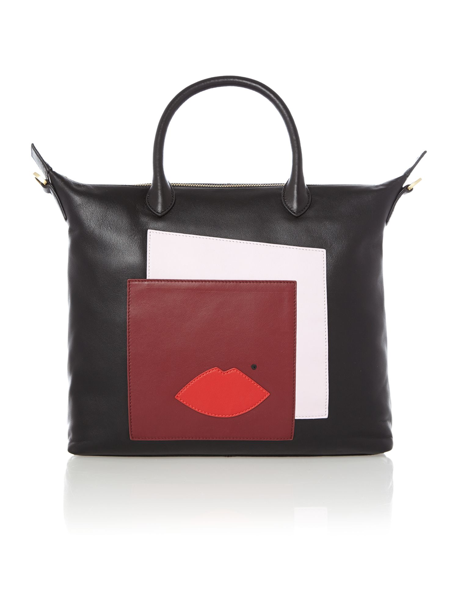 Abstract london multi-coloured small print tote