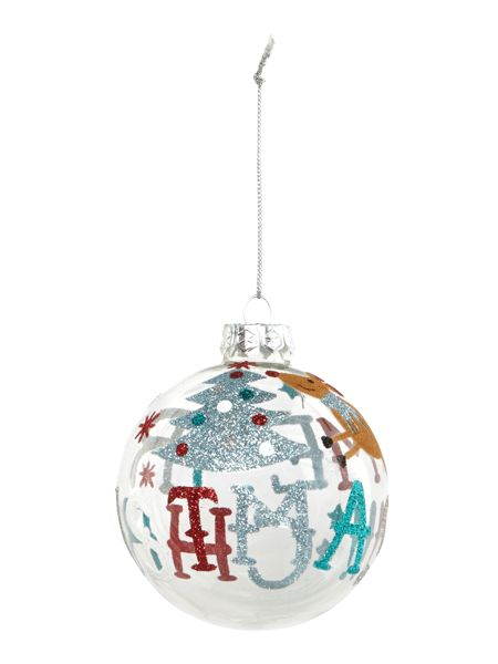 Linea Merry Christmas text bauble