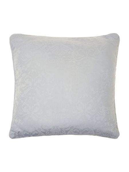 Luxury Hotel Collection Baroque jacquard quilted cushion filled soft blue