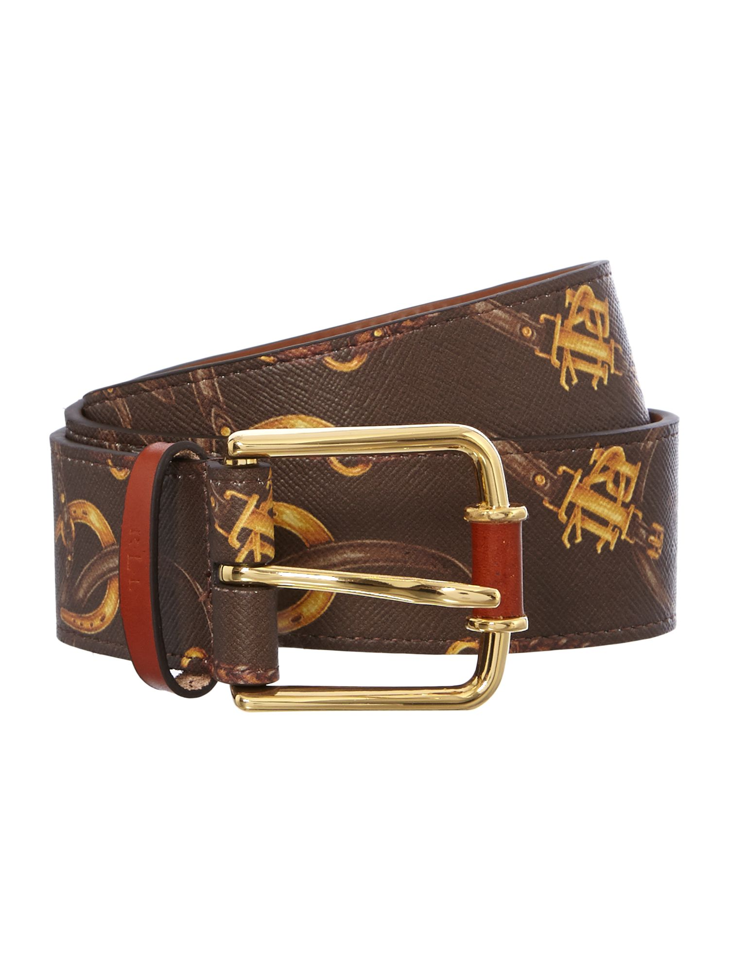 Brown belting print belt