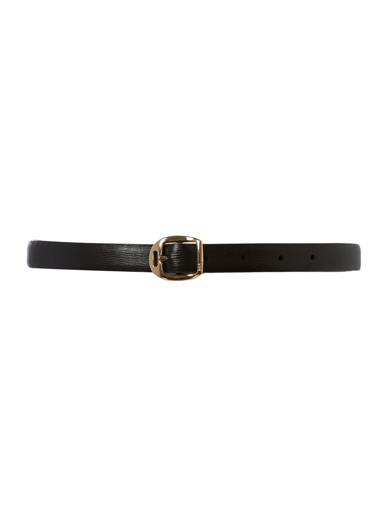 Black saffiano belt