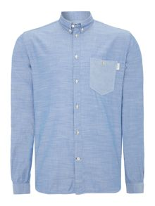 Marl Shirt With Stripe Pocket