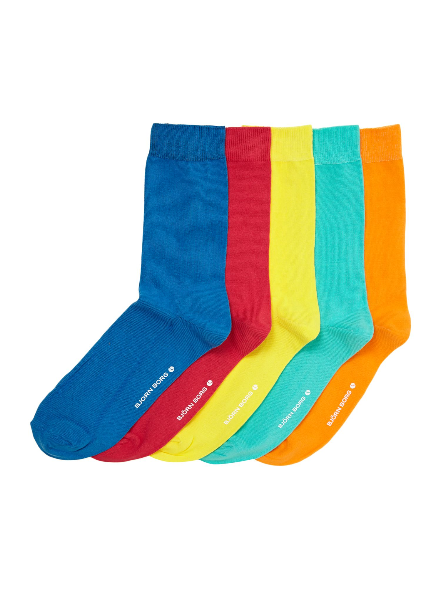 5 pack block colour sock